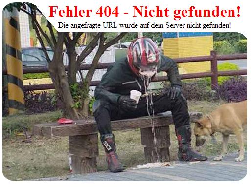 Screenshot am Beispiel des Fehlers 404